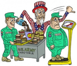 Military mess halls: Fried, fatty, processed foods and sugary drinks ...