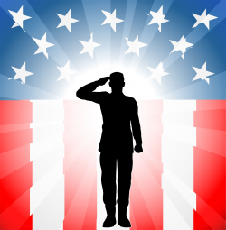 Veterans Day Clip Art | soldier in front of flag clipart | Places to ...