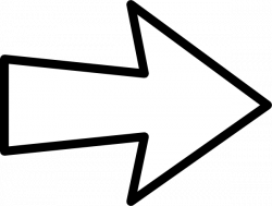 Hollow Curved Arrow Clipart