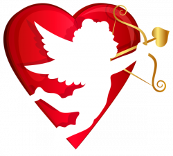 Red Heart and Cupid Transparent PNG Clip Art Image | R E D ...