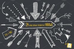 Chalkboard Arrow Clip Art EPS + PNG ~ Objects ~ Creative Market