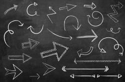 Chalkboard Arrow Vectors ~ Icons ~ Creative Market