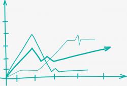 Simple Green Chart, Concise Chart, Broken Line Graph, Green Arrow ...