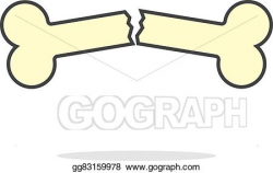 Vector Art - Simple yellow outline broken bone icon. EPS clipart ...