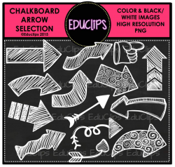 Chalkboard Arrows Clip Art Bundle (White only) - Welcome to Educlips ...