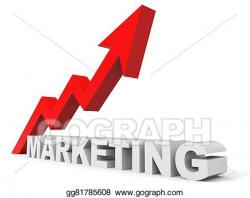 Stock Illustration - Graph up marketing arrow. Clipart gg81785608 ...