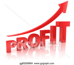 Clipart - Profit graph with arrow. Stock Illustration gg65200664 ...