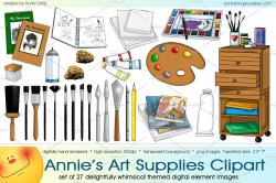 Annie's Art Supplies Clipart ~ Illustrations ~ Creative Market