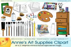 Annie's Art Supplies Clipart ~ Illustrations ~ Creative Market
