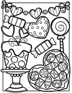 FREE Valentine Coloring Pages {Made by Creative Clips Clipart}   TpT