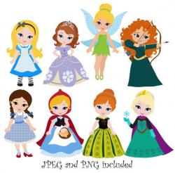Princess 04 Digital Clipart / Princess Clip Art / Fairytale Princess ...