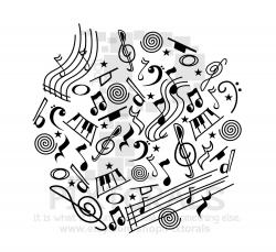 Music Doodle! PNG (Transparent background) , EPS file, and JPEG ...