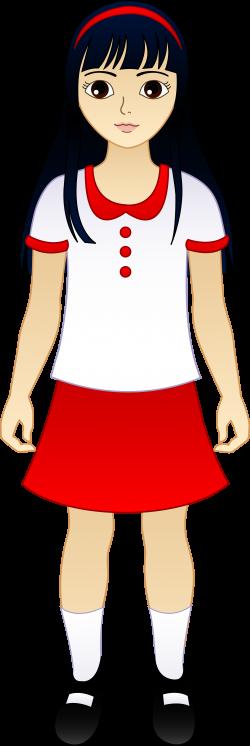 Little Asian Girl - Free Clip Art