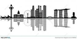 Singapore Skyline Illustration 41968654 - Megapixl