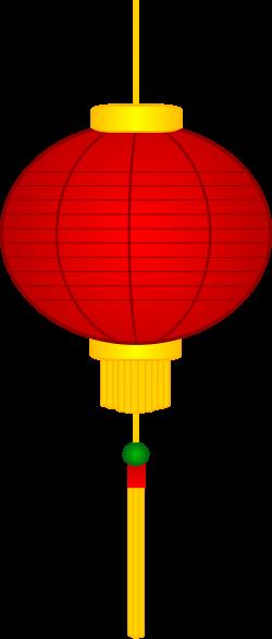 Red Chinese Paper Lantern - Free Clip Art