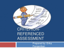 Criterion-referenced assessment