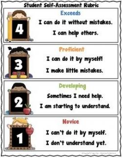 Student Self-Assessment Rubric - Freebie! | Rubrics, Scale and Students
