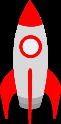 Free clip art of a cute red retro space rocket | Sweet Clip Art ...