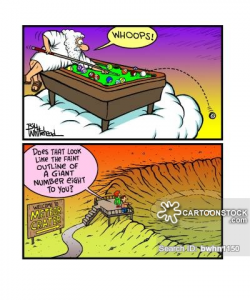 Asteroid Impact Cartoons and Comics - funny pictures from CartoonStock