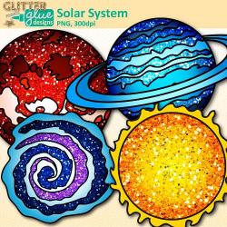 Solar System Clipart | Teacher Clip Art | Glitter Meets Glue Designs