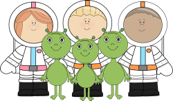 Aliens and Astronauts Clip Art - Aliens and Astronauts Image