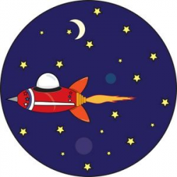 Astronomy Clip Art | Space Ship Clipart Image: Space ship flying ...