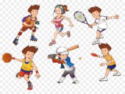 Cartoon Sport Athlete Clip art - Cartoon athletes png download ...