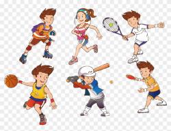Cartoon Athlete Clip Art Athletes Transprent Png ...