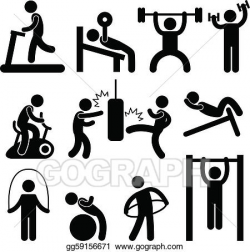 Vector Stock - Athletic gym gymnasium exercise. Stock Clip Art ...
