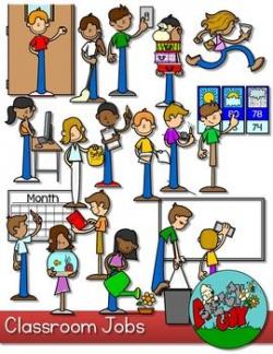 Classroom Jobs Clip art | Attendance board, Classroom jobs and Door ...