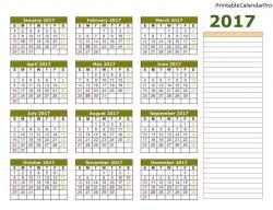 Employee Attendance Calendar 2017,Employee Attendance Tracker ...
