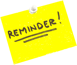 Funny Reminder Clipart