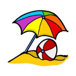 Umbrella Beach Ball Clipart - Polyvore | Beach | Pinterest | Beach ...