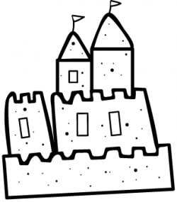 Sand Castle Drawing - ClipArt Best   Zendoodling Coloring Pages ...