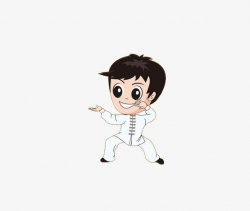 Hit The Aunt Of Tai Chi, Lovely, Cartoon, Vector PNG Image and ...