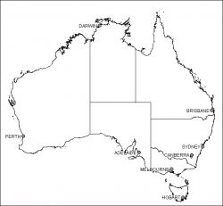 Download Australia Map Outline   Major Tourist Attractions Maps