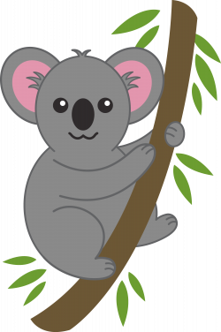 koala bear clip art | Cute Koala on Tree Branch - Free Clip Art ...