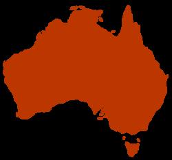 Silhouette of Australia - Rooweb Clipart
