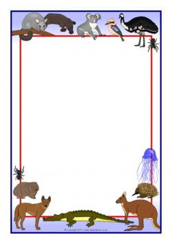 Australian Animals A4 Page Borders (SB4821) - SparkleBox