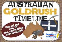Australian Gold Rush Timeline Posters feature 17 key events that ...