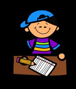 2 Kids Writing Clip Art | Clipart Panda - Free Clipart Images