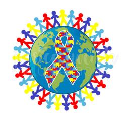 Autism Awareness Earth Cute Digital Clipart Austism Awareness