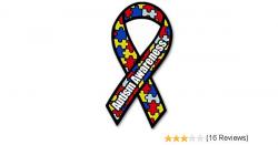 Amazon.com: Autism Awareness Ribbon car bumper sticker 3
