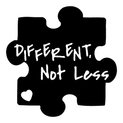 Different Not Less | Autism Awareness | Car Stickers