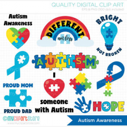 Clipart - Autism Awareness Sticker Art (SVG file included) by ...