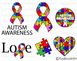 Autism Awareness svg Cutting Files SVG PNG EPS ClipArt Instant ...