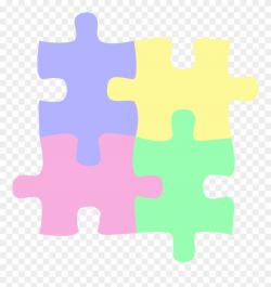 Logo Children Or Autism Puzzle Pastel Clip Art - Autism ...