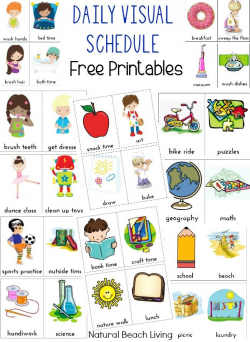 Daily Visual Schedule for Kids Free Printable | Visual schedules ...