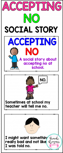 Social Stories: Accepting No | Special education, Autism and Students