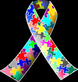 Clipart - Autism (puzzle) ribbon